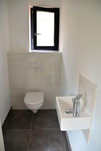 installation wc suspendu (bâti support derrière placo) et lave main - Matériel ALLIA , GROHE et GEBERIT